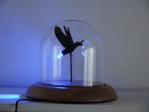 Photinus Biomimeticus, 3D print, LED & glass globe.